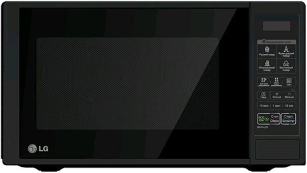 Микроволновая печь черного цвета
