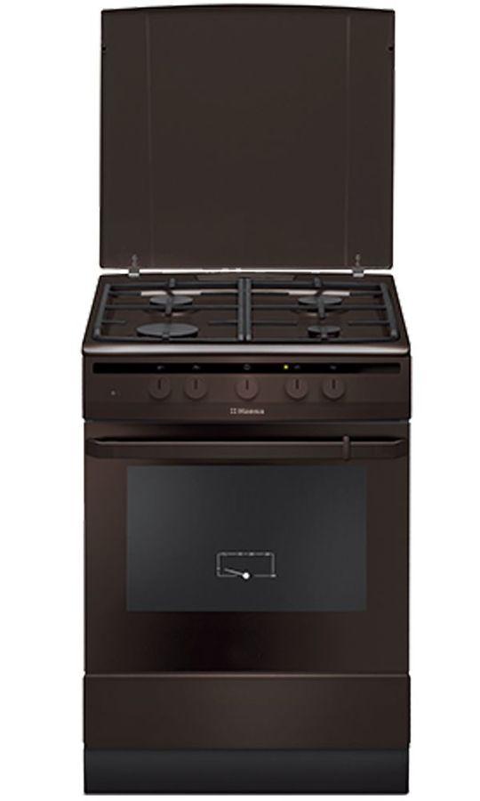 Газовая плита HANSA FCGB63021,  газовая духовка,  коричневый