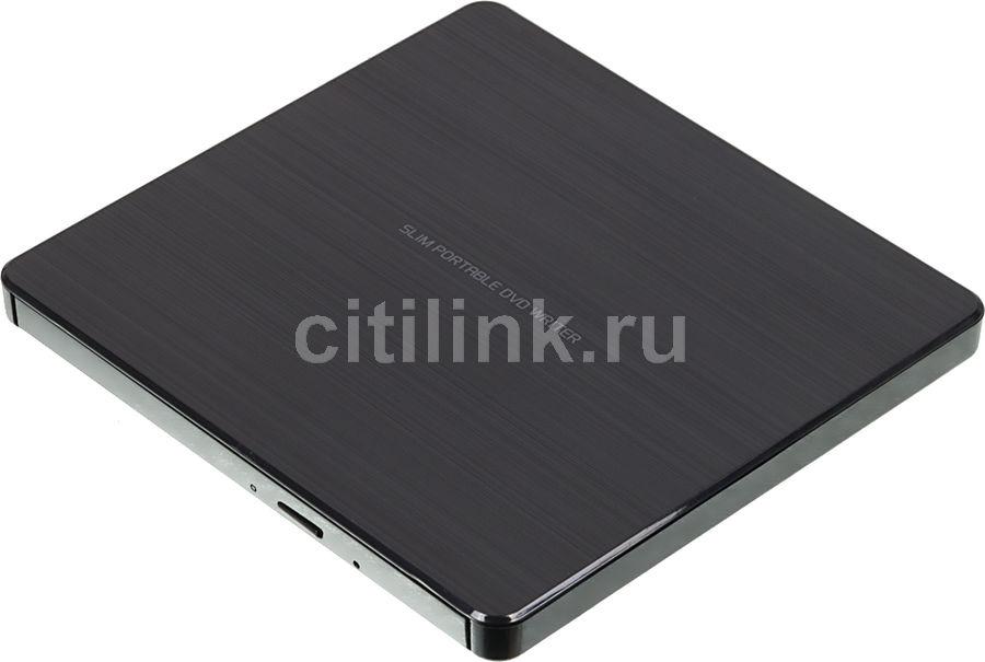 Оптический привод DVD-RW LG GP60NB60, внешний, USB, черный,  Ret