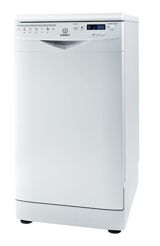 Посудомоечная машина INDESIT DSR 57M19 A EU,  узкая, белая