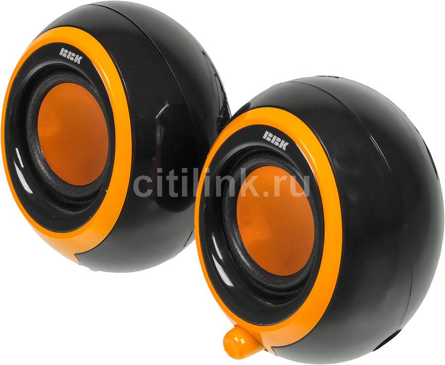 Колонки BBK CA-201S,  черный,  оранжевый [ca-201s ч/о]