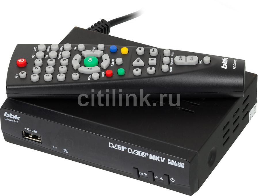 Ресивер DVB-T2 BBK SMP240HDT2 черный (отремонтированный)