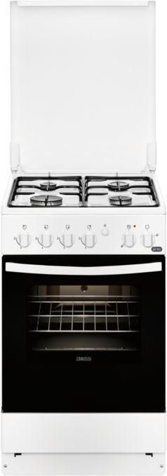 Газовая плита ZANUSSI ZCK9540G1W,  электрическая духовка,  белый