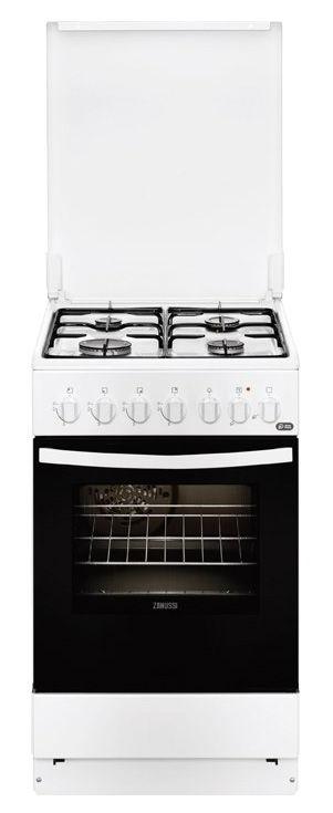 Газовая плита ZANUSSI ZCK9552J1W,  электрическая духовка,  белый