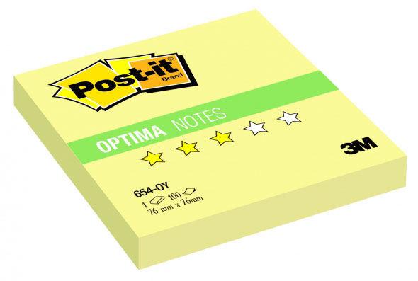Блок самоклеящийся бумажный 3M Post-it Optima Осень 654-OY 7100041126 76x76мм 100лист. желтый канаре