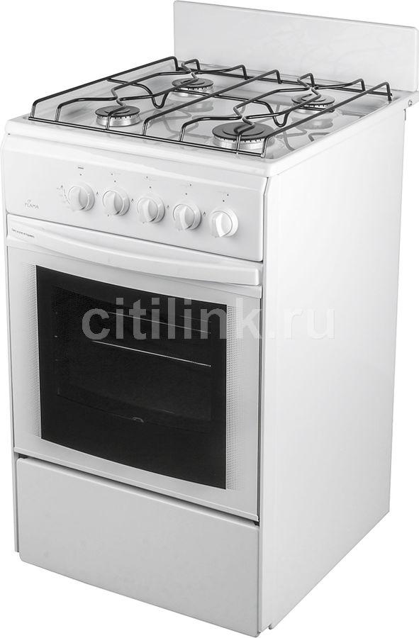 Газовая плита FLAMA RG 24011 W,  газовая духовка,  белый