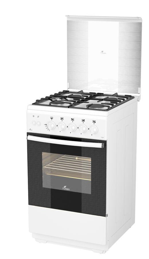 Газовая плита FLAMA FG 24210 W,  газовая духовка,  белый