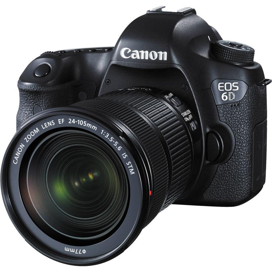 Зеркальный фотоаппарат CANON EOS 6D KIT kit ( EF 24-105mm f/3.5-5.6 IS STM),  черный