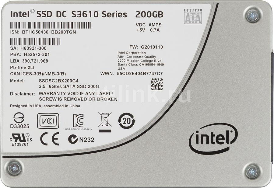 """SSD накопитель INTEL DC S3610 Series SSDSC2BX200G401 200Гб, 2.5"""", SATA III [ssdsc2bx200g401 940779]"""