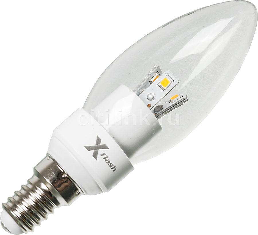 Лампа X-FLASH Candle 44030, 4Вт, 280lm, 50000ч,  3000К, E14,  1 шт.