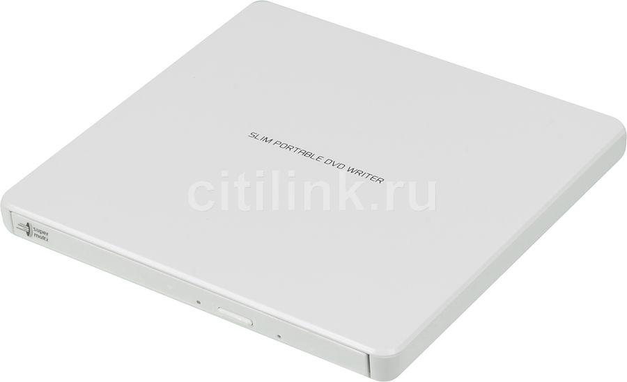 Оптический привод DVD-RW LG GP60NW60, внешний, USB, белый,  Ret