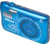 """Фотоаппарат Nikon CoolPix S3700 синий/рисунок 20.1Mp 8x 2.6"""" 720p 25Mb SDXC WiFi E (отремонтированный) вид 2"""