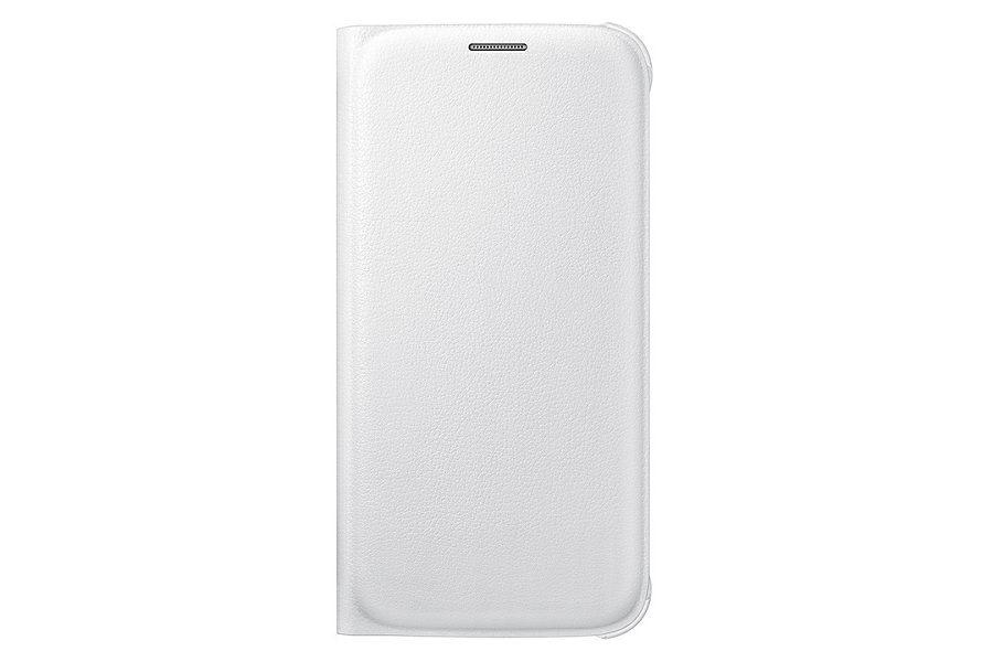 Чехол (флип-кейс) SAMSUNG Flip Wallet, для Samsung Galaxy S6, белый [ef-wg920pwegru]
