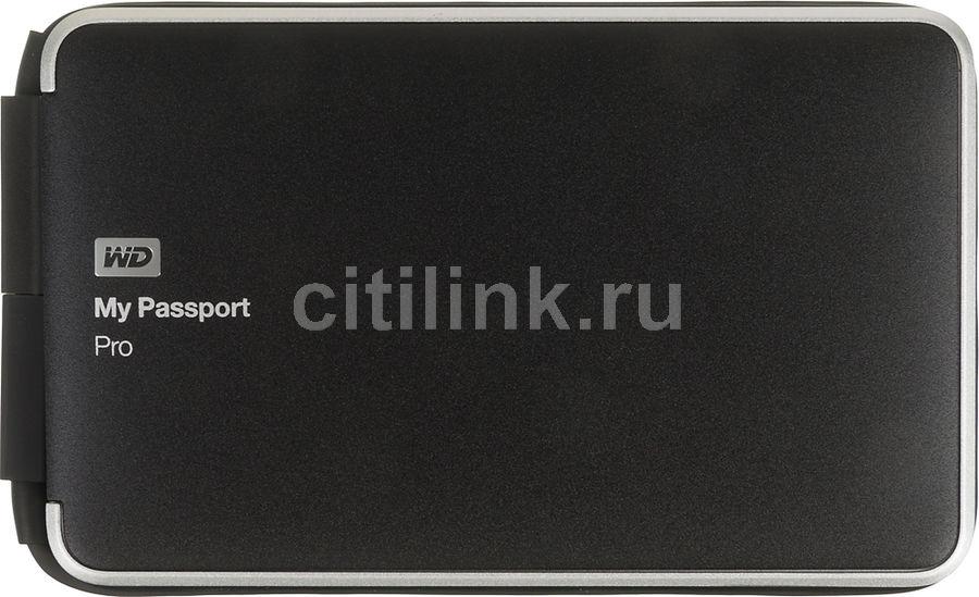 Внешний жесткий диск WD My Passport Pro WDBRMP0020DBK-EESN, 2Тб, черный