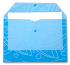 "Конверт на кнопке Бюрократ Galaxy -GA801BLUE/1 A4 с рисунком ""Galaxy"" пластик 0.18мм синий вид 2"