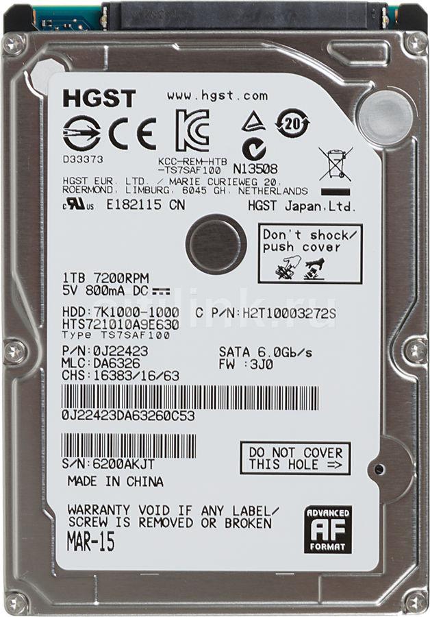 Жесткий диск HGST Travelstar 7K1000 HTS721010A9E630,  1Тб,  HDD,  SATA III,  2.5