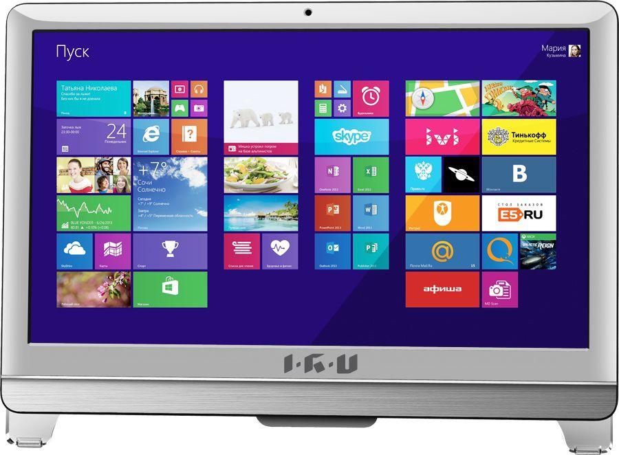 Моноблок IRU Office T2108, Intel Celeron G1620, 4Гб, 500Гб, Intel HD Graphics, DVD-RW, Free DOS, белый [289349]