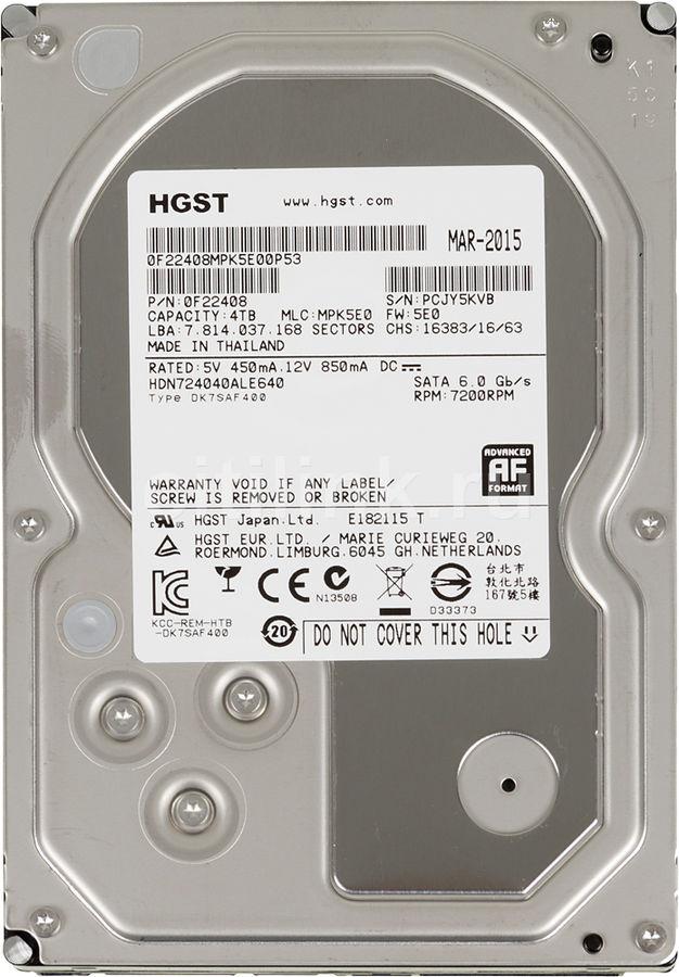 Жесткий диск HGST NAS H3IKNAS40003272SE,  4Тб,  HDD,  SATA III,  3.5