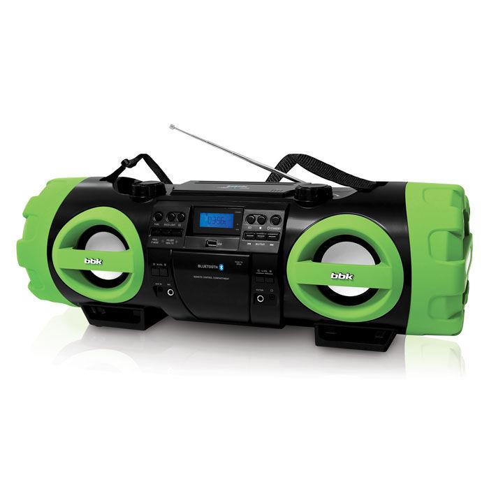Аудиомагнитола BBK BX999BT,  черный и зеленый