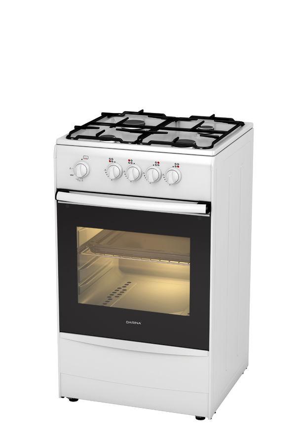 Газовая плита DARINA 1A GM441 001 W,  газовая духовка,  белый