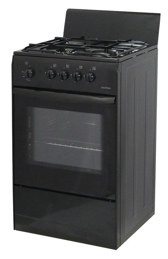 Газовая плита DARINA S GM 441 001 B духовка,  черный