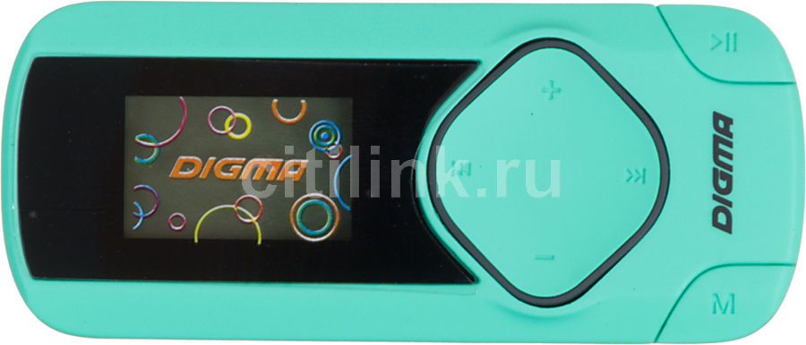 MP3 плеер DIGMA R2 flash 8Гб мятный/черный [r2mt]