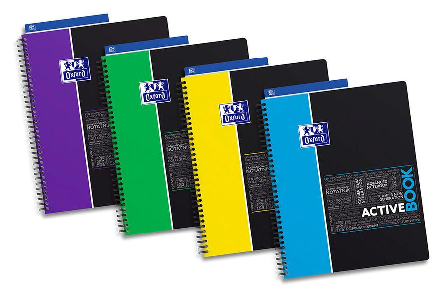 Тетрадь Oxford SOS Notes ACTIVEBOOK A4+ PP 80л линейка 1 съем. разделит. спираль двойная [400037402]