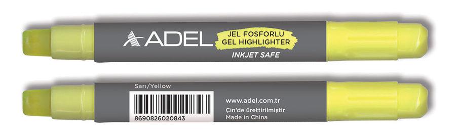 Текстовыделитель Adel 420-1860-007 механический гелевый желтый