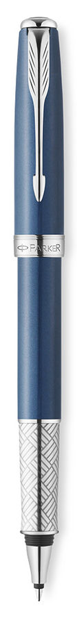 Ручка роллер Parker Sonnet T533 (1930502) Secret Blue Shell F черные чернила подар.кор.