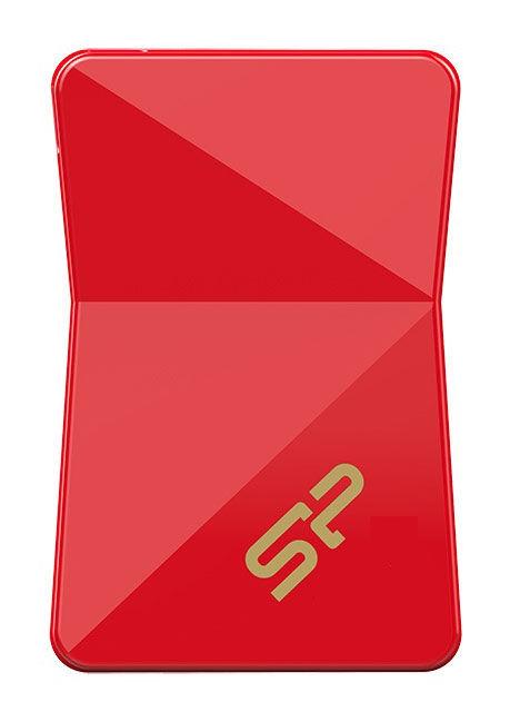 Флешка USB SILICON POWER Jewel J08 32Гб, USB3.0, красный [sp032gbuf3j08v1r]