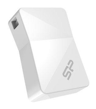 Флешка USB SILICON POWER Touch T08 8Гб, USB2.0, белый [sp008gbuf2t08v1w]
