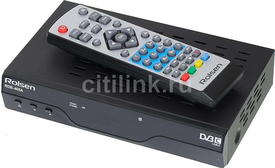 Ресивер DVB-C ROLSEN RDB-405A,  черный [1-rldb-rdb-405a]
