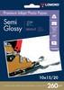 Фотобумага Lomond 1103302 10x15/260г/м2/20л./белый полуглянцевое для струйной печати вид 1
