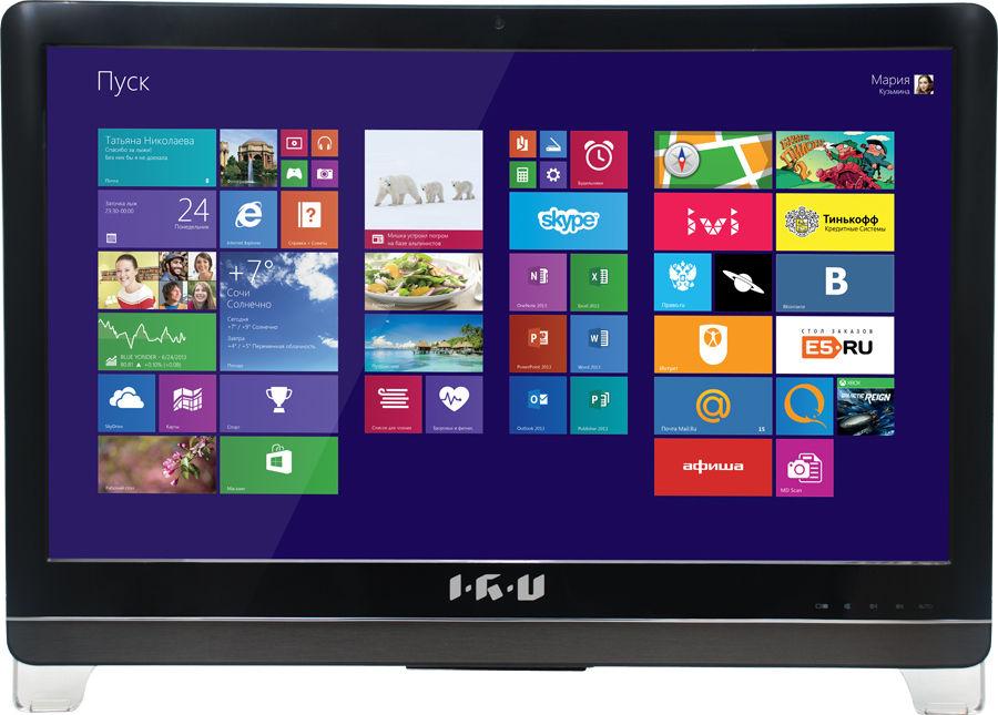 Моноблок IRU Home T2304, Intel Core i3 4160, 4Гб, 500Гб, nVIDIA GeForce GT840M - 2048 Мб, DVD-RW, Free DOS, черный [296046]