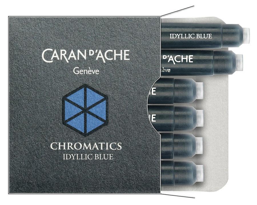 Картридж Carandache Chromatics (8021.140) Iddyllic blue чернила для ручек перьевых (6шт)