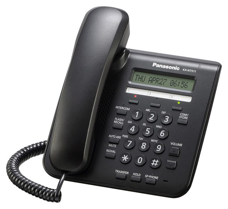 IP телефон PANASONIC KX-NT511PRUB