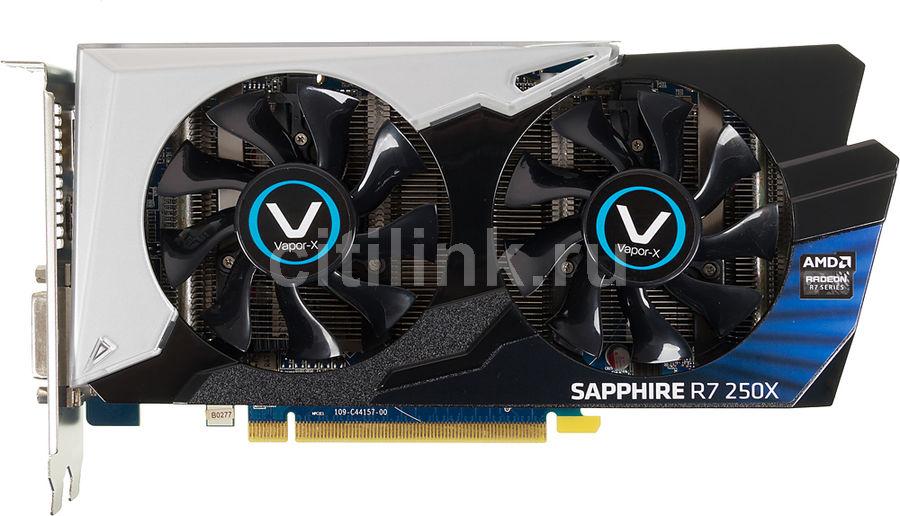 Видеокарта SAPPHIRE AMD  Radeon R7 250X ,  11229-05-10G,  2Гб, GDDR5, oem