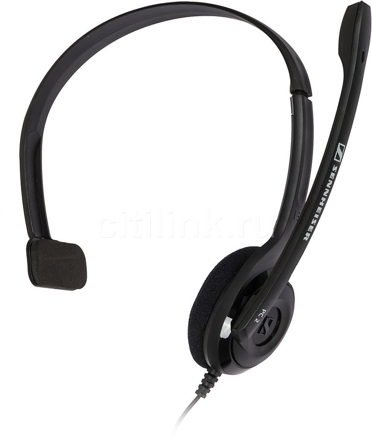 Моно гарнитура SENNHEISER PC 2 CHAT,  504194,  накладные, черный