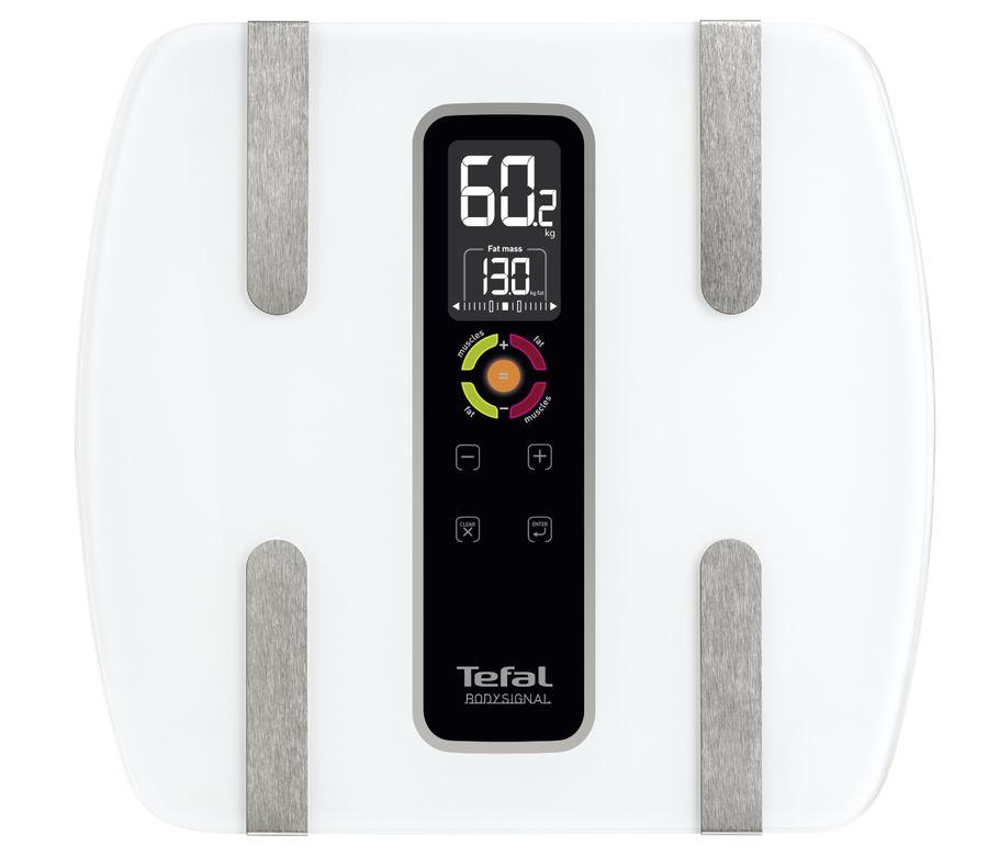 Напольные весы TEFAL BM7100S6, до 160кг, цвет: белый [2100086689]