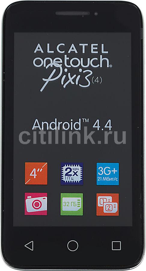 Смартфон ALCATEL Pixi 3(4) 4013D,  серебристый