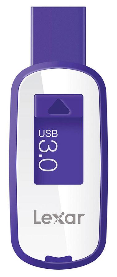 Флешка USB LEXAR JumpDrive S25 64Гб, USB3.0, белый и фиолетовый [ljds25-64gabeu]