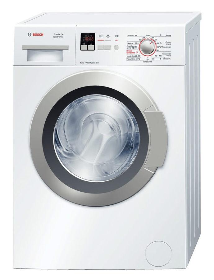 Стиральная машина BOSCH WLG20165OE, фронтальная загрузка,  белый