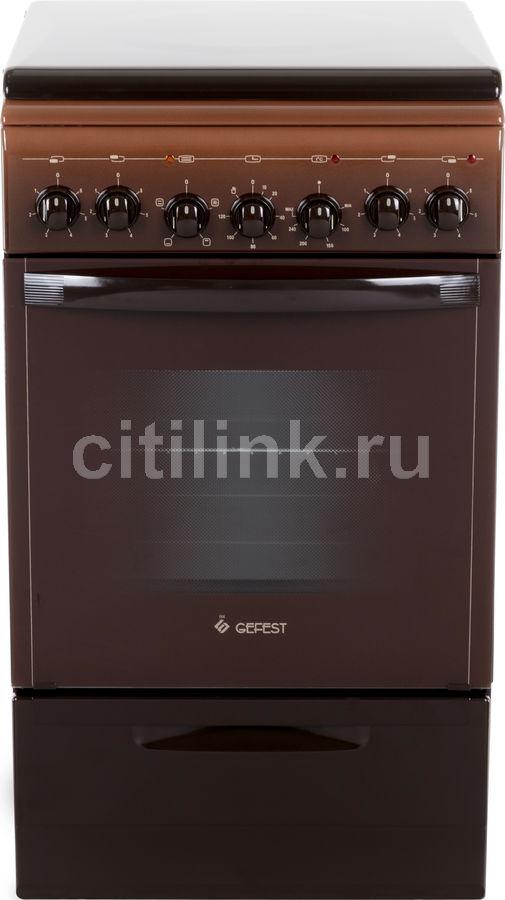 Электрическая плита GEFEST 5140-02 0038,  эмаль,  коричневый