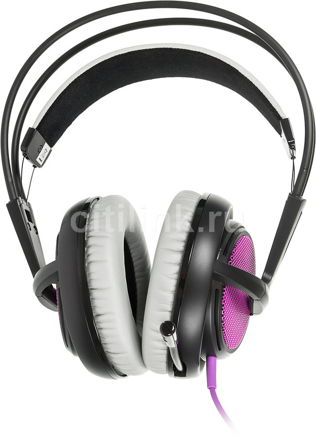 �������� � ���������� STEELSERIES Siberia 200 Sakura Purple, ��������, ���������/������ [51136]