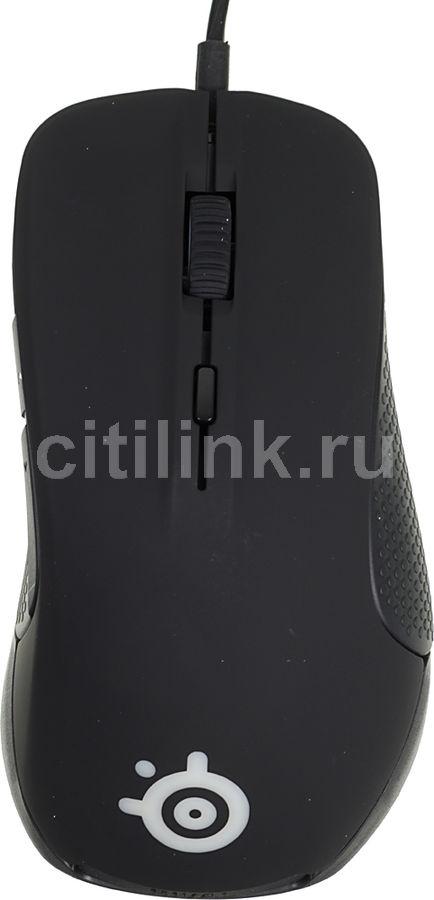 Мышь STEELSERIES Rival 300 62351 оптическая проводная USB, черный