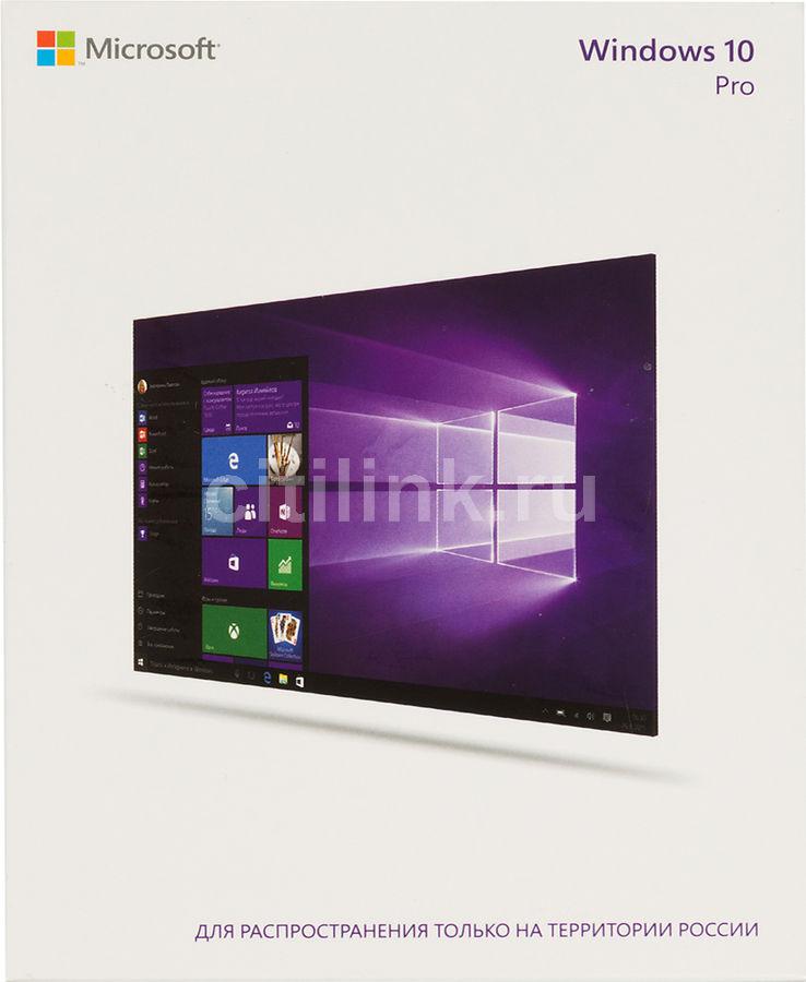 Операционная система MICROSOFT Windows 10 Pro,  32/64 bit, Rus, Only USB, USB [fqc-09118]