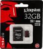 Карта памяти microSDHC UHS-I U3 KINGSTON 32 ГБ, 90 МБ/с, Class 10, SDCA3/32GB,  1 шт., переходник SD вид 1