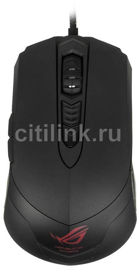 Мышь ASUS GX860 лазерная проводная USB, черный [90xb02c0-bmu000]