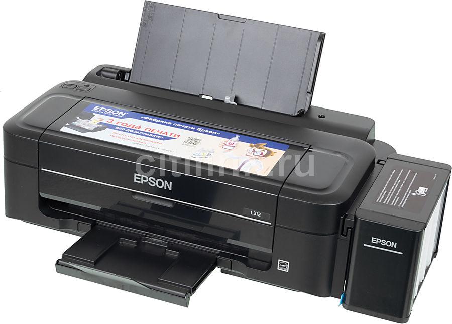 Принтер струйный EPSON L312,  струйный, цвет: черный [c11ce57403]