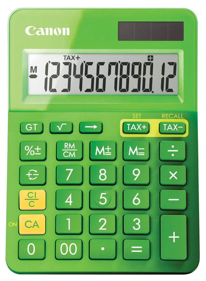 Калькулятор CANON LS-123K-MGR,  12-разрядный, зеленый